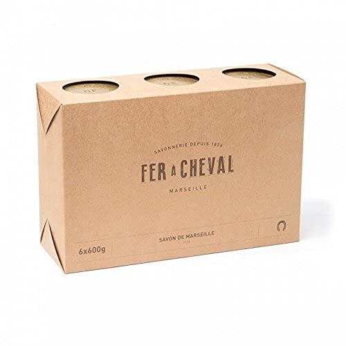 Fer à Cheval - Véritable Savon de Marseille à l'huile d'olive - Cube Lot de 6x600g