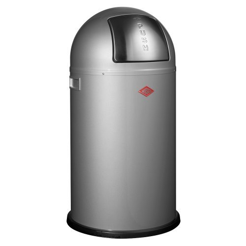 Wesco PUSHBOY silver - paper bin 50 litre by Wesco