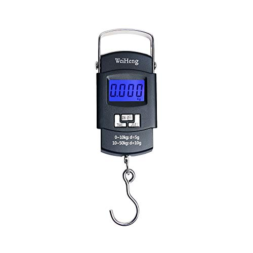 LIHUAN Báscula Electrónica Báscula De Resorte Portátil Que Puede Pesar 50 Kg Mini Portátil