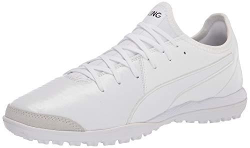 PUMA Unisex King PRO TT Fussballschuh, White White White, 44.5/46.5 EU