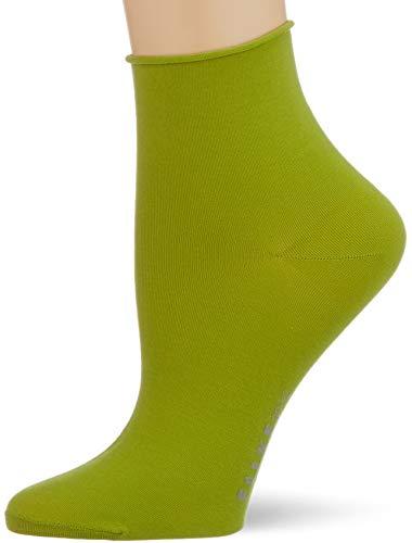 Falke Cotton Touch, Calcetines Cortos Mujer, Corte Bajo, Verde (Bamboo 7187), 39-42 (1 Par)