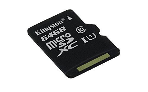 Kingston SDCS/64GBSP Canvas Select MicroSD, Velocità UHS-I di Classe 10, fino a 80 MB/s in Lettura, senza Adattatore SD
