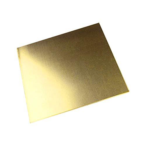 JKGHK Metal Off Cuts Messingblech Hochwertig,3mm x 100mm x 100mm