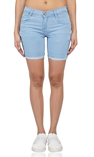 LUXSIS Women's Denim Lycra Skinny Casual Mid Waist Solid Stretchable...
