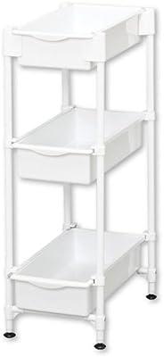 アイリスオーヤマ ラック サイドラック 3段 幅23.5×奥行39×高さ70cm ホワイト SDR-3