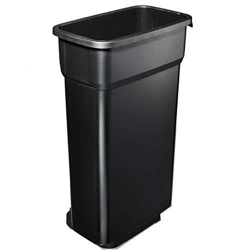 Rotho Selecto Premium Cubo de Basura 70l sin Tapa, Fix Material, Negro, 70 L (29.0 x 49.0 x 73.0 cm)
