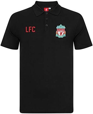 Liverpool FC Polo Para hombre - Con el escudo del club Negro