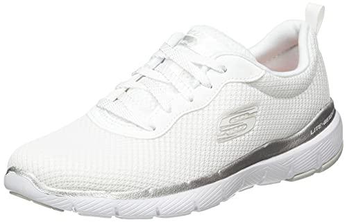 Skechers Flex Appeal 3.0 13070 - First Insight, Zapatillas Mujer, Blanco, 38 EU