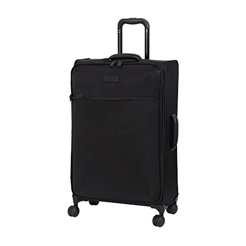 it luggage Lustrous Lightweight Expandable Spinner Wheels, Black, Checked-Medium 28-Inch