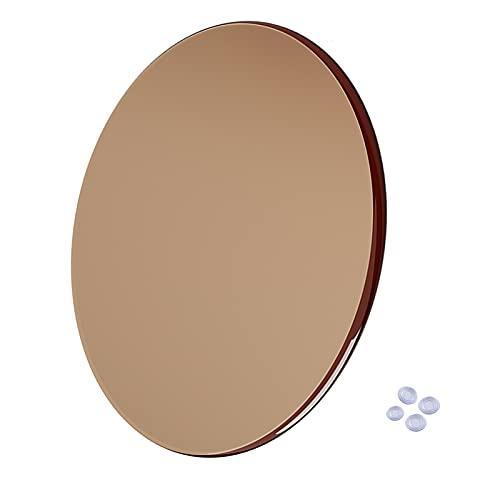 WXZX Cristal Redondo Templado Tablero Marrón 85cm, 88cm, Mesas De Comedor, Manteles Y Accesorios para Mesas, Resistencia Al Rayado Y A Altas Temperaturas (Size : Light Brown 60CM (24in))
