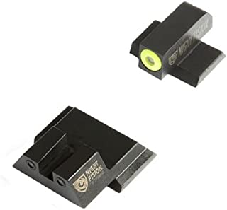 Night Fision SAW-201-003-YGZG Perfect Dot Night Sight Set, Smith & Wesson M&P/M2.0/SD9 Ve/SD40 Ve Mo, Front, Square Rear, Yellow Front with Grn Tritium, Black Rear with Grn T