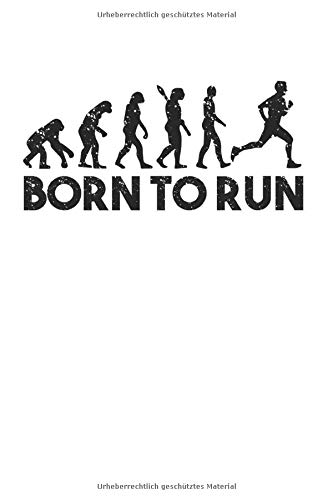 Born to Run: Läufer Notizblock Marathon Geschenk