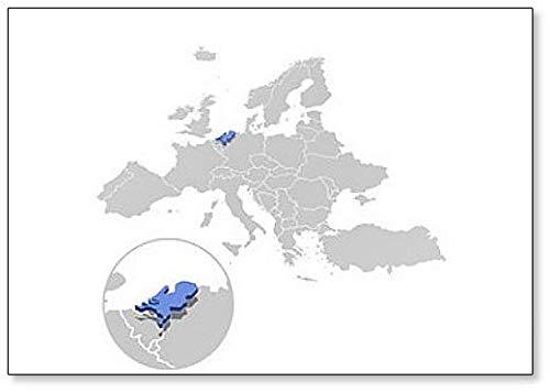 Imán para nevera, diseño de mapa de Holanda en Europa