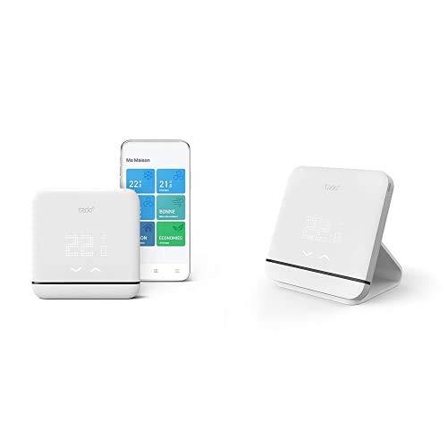 tado° Control de Climatización Inteligente V3+, Instálalo tú Mismo + Accesorio para el Termostato Inteligente Inalámbrico