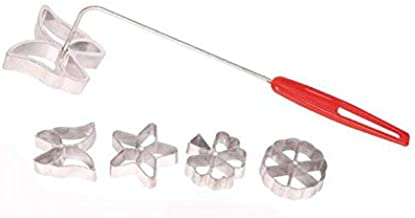 MBB Rosette Set Waffle Molds 4 Design Butterfly Star Tree Wheel with Lifting Tool