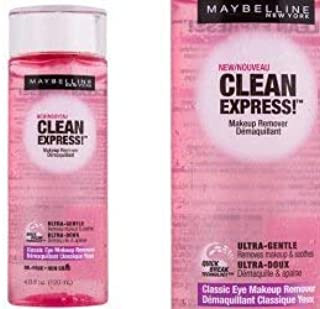 2 Pk, Maybelline New York Clean Express Classic Eye Makeup Remover, 4 Fluid Ounce