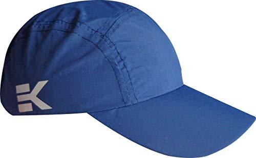 Gorra de Running Ekeko Bayona, Gorra de Microfibra, Ajustable con Hebilla. Efecto Algodon Lavado. (Azul Marino)