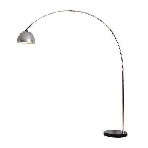 Aocean Lámpara de pie de Arco de lámpara Alta, lámpara de pie LED con Pantalla de lámpara Colgante Lámpara de pie de Altura Ajustable para Sala de Estar, Dormitorio, lámpara de pie