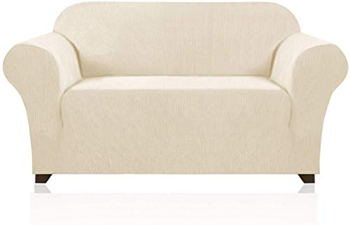 VINGO Funda para sofá de 145 – 172 cm, funda de sofá de 2 plazas, funda de sofá elástica, 85 % fibra de poliéster y 15 % elastano, en diferentes tamaños y colores