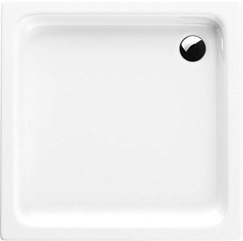 Acryl-Duschwanne 70x70x17 cm Duschtasse Grando Plus rechteckig Duschkabine Styroporträger extra flach Sanitär-Acryl Duschbecken stabil weiß+ Viega Tempoplex