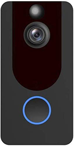 ZGYQGOO Sonnette vidéo sans Fil, Sonnette Intelligente sans Fil WiFi, interphone visuel Faible Puissance 1080P, Conversation bidirectionnelle, caméra Vision Nocturne IR, Blanc