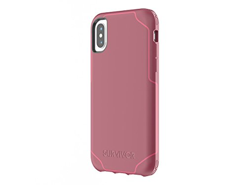 Griffin, iPhone X Protective Case, Survivor Strong, 7ft Drop Protection, Slim case, Non-Slip Grip, Dark Red
