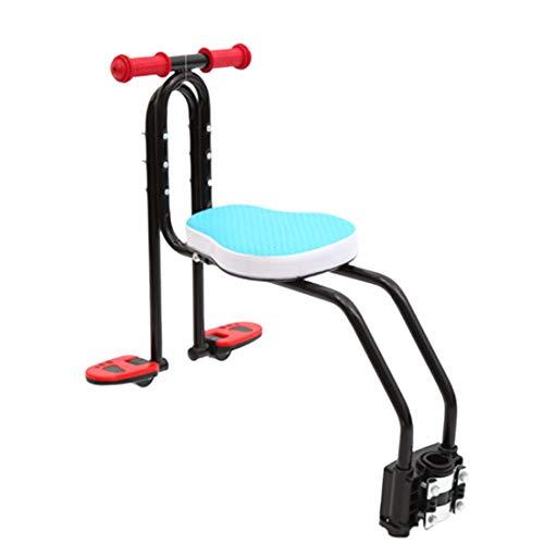OVERWELL Kindersitz Fahrrad Vorne, Abnehmbar Fahrradkindersitz Vorne mit Pedal und Griff, für Herrenfahrrädern und Damenrädern, Max 50KG