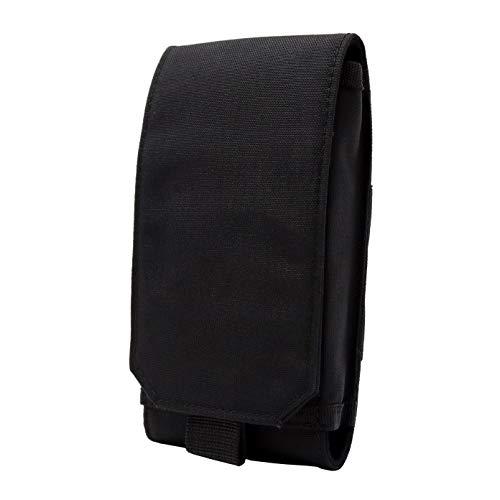 Clakit Strap-Pack : Sac à dos de poche à bandoulière avec clip pour randonneurs, cyclistes, voyageurs, étudiants et navetteurs / pour smartphones XL jusqu'à 10cm x 17,5cm - noir