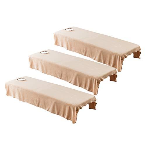 B Baosity 3X Drap de Lit Housse Spa Massage Traitement Table de Lit Drap Housse de Protection pour Tables de Massage 80x190cm
