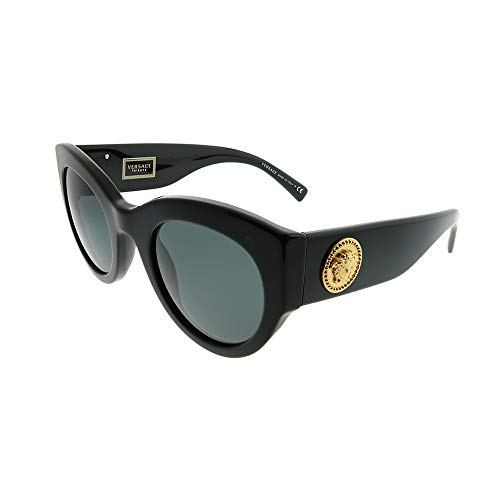 Versace Women's Bold Frame Sunglasses, Black/Grey, One Size