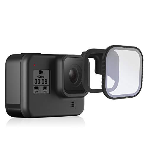 TELESIN Magnetischer CPL Kameraobjektiv-Polarisationsfilter für GoPro Hero8 schwarz, Objektivschutz, Zirkular-Polarisator für GoPro Hero 8 Zubehör (1 x CPL)