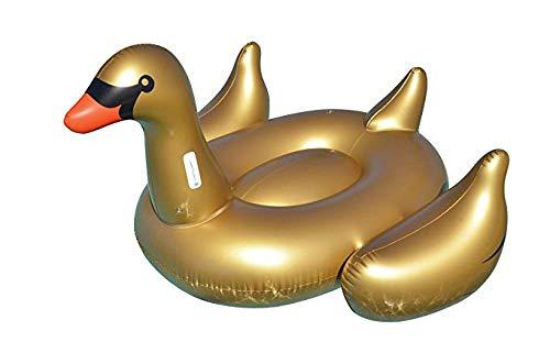 WZXHN Salotto Galleggiante per Piscina Gonfiabile con Cigno d\'oro Gigante per Giochi d\'Acqua Estivi per Adulti Nuoto Ring-Gold_Swan_190X190CM