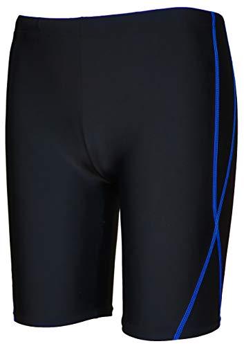 【Asbrio】水着 競泳 スクール ミドルスパッツ UPF50+ 撥水加工 80〜170cm (ブルー, 80)