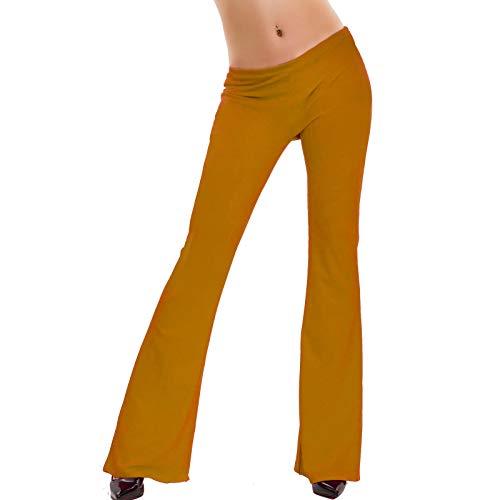 Toocool - Damen-Hose mit Glocke, eng anliegend, elastisch, Hot Neu AS-2462, Baggy, 85930-71-412-1, Gelb, 85930-71-412-1 One size