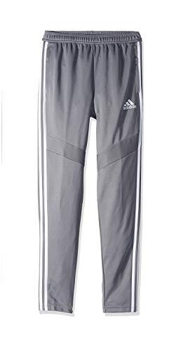 adidas Unisex child Tiro 19 Training Pants, Grey/White, Medium