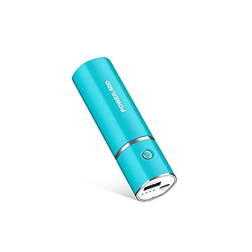 Mini Powerbank, Slim 2 Externer Akku 5000mAh, Klein Leicht Portable Charger, Kompakte Power Bank Handy Ladegerät für Smartphones, iPhone, Samsung Galaxy, Huawei und Mehr - Blau
