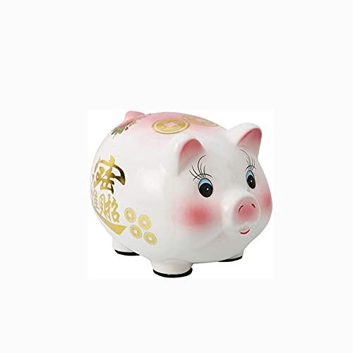 Wdonddoncqg Adulto Cerámica Cerámica Piggy Capacity Animal Piggy Bank Tercedor de Juguete Decoración del hogar (Color: Rojo, Tamaño: XL) (Color : Red, Size : Large)