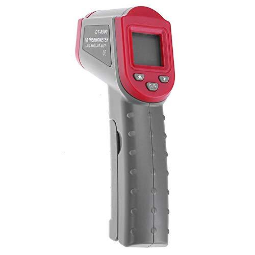 ZXlife @ heteluchtpistool met hoge temperatuur, digitale thermometer, zonder contact, verandert in temperatuur, let op je veiligheid, snelle meting in 0,8 seconden, eenvoudig te gebruiken.
