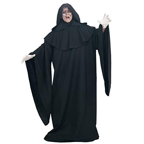 GBYAY Disfraz de Diablo Grito Disfraz de Fantasma de Halloween para Hombre Mujer Monje Túnica Negra Disfraz de Bruja del Diablo de Bruja de Halloween Disfraz de Miedo