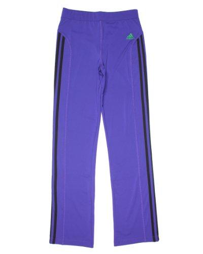 adidas Niñas 7–16Climalite Pantalones de Yoga pequeña 7/8, Color Morado