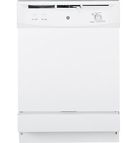 GE GSM2200VWW Spacemaker Under-The-Sink 24-Inch Dishwasher With Touchpad Controls, White, 5 Cycles / 2 Options