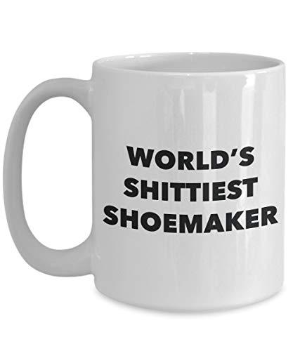 Taza de café 11 oz Zapatero - Zapatero más mierda del mundo - Regalos para zapatero - Idea divertida para regalo de cumpleaños