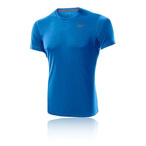 MIZUNO DryLite Core Camiseta de Caballero, Azul, S