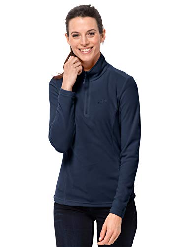 Jack Wolfskin Damen Fleecepullover Gecko Women Leicht Outdoor Fleece Pullover, Midnight Blue, XL, 1703771-1910005