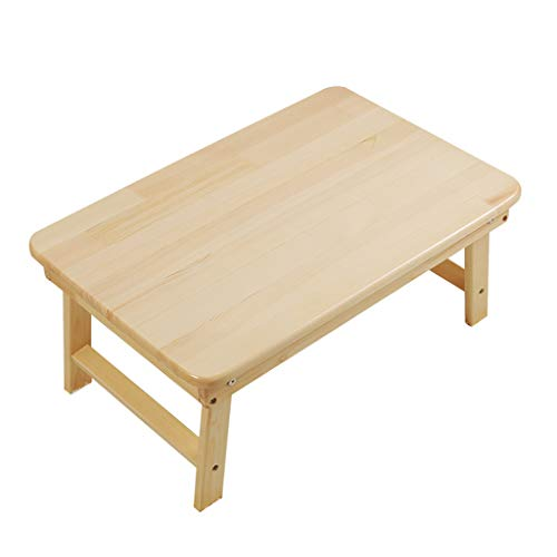 Peaceip Petit Bureau d'ordinateur Se Pliant Simple Moderne, Bureau en Bambou pour Le lit et Le Sofa, Bureau portatif, Petite Table Basse (Taille : L)
