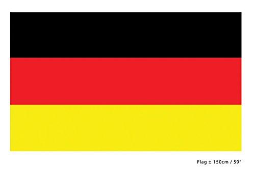 Handball Klamotten Fahne Flagge Deutschland 90 x 150 cm. Fan-Artikel schwarz rot Gold Handball EM Herren Deutschland 2020
