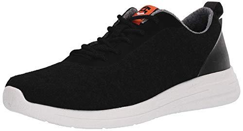 AdTec Modern Men's Wool Shoes, Lightweight Sneakers, Odor Resistant & Temperature Regulating, Easy to Slip On & Clean All Season Footwear, Black/White, 11 US