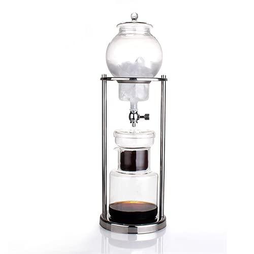 Ekspres do kawy na zimno, podstawa ze stali nierdzewnej i szkło borokrzemianowe Luksusowe lodowatoodporne do kawy do kawy, narzędzie do wielokrotnego użytku