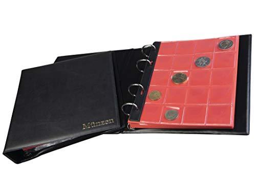 MC.Sammler Münzalbum Münzen Sammelalbum für 200 Stück 2 Euro Münzen (schwarz) Münzenalbum