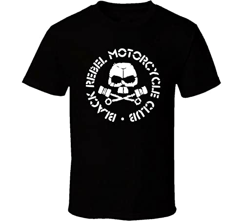 Black Rebel Motorcycle Club Band Shirt Black White Tshirt Men's Shipping XXL Black